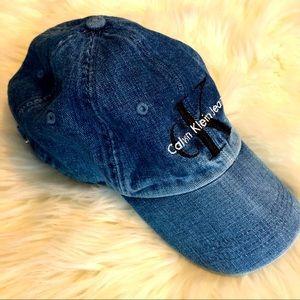 [Calvin Klein] Denim Logo Hat